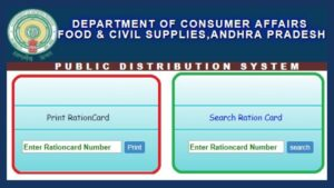 AP Ration card details